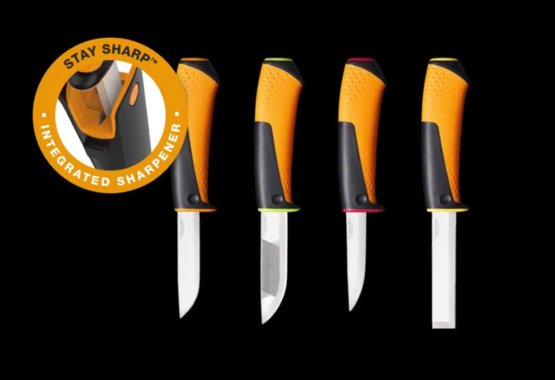 Nueva gama de cuchillos utilitarios con afilador integrado
