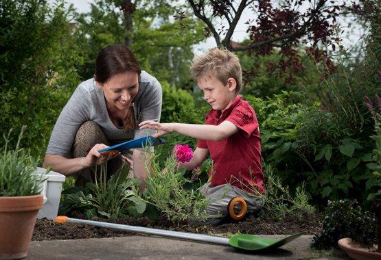 La jardinería puede ser un juego de niños