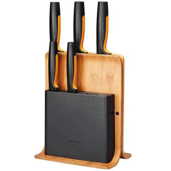 Tacoma de cuchillos Functional Form Bamboo 5 cuchillos
