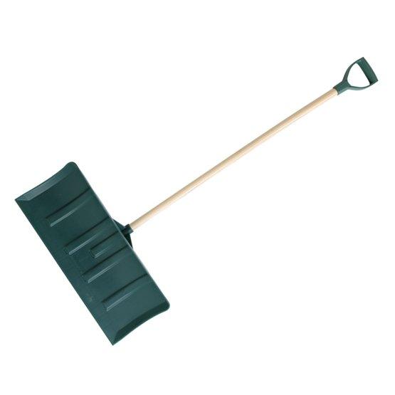 Pala de empuje polímero verde mango anilla plástico