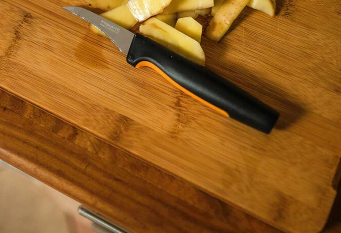 Cuchillo pelador de hoja curva, Functional Form